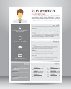 Job Resume Or CV Layout Template In A4 Size  Vector Illustration     Job Resume Or CV Layout Template In A4 Size  Vector Illustration Royalty  Free Cliparts  Vectors  And Stock Illustration  Image 60114516