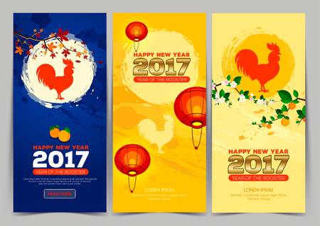 vertical new year banner