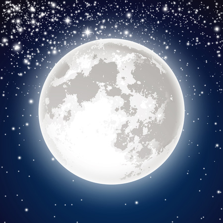 Full moon Stock Vector - 44735675