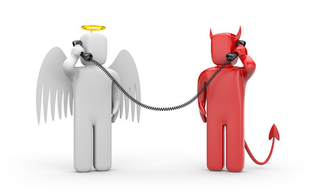 deal devil: Negotiations between good and evil