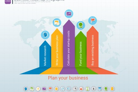 Roadmap Timeline Infographic Design Template  Key Success And     Roadmap timeline infographic design template  Key success and presentation  of project ambitions  Can be