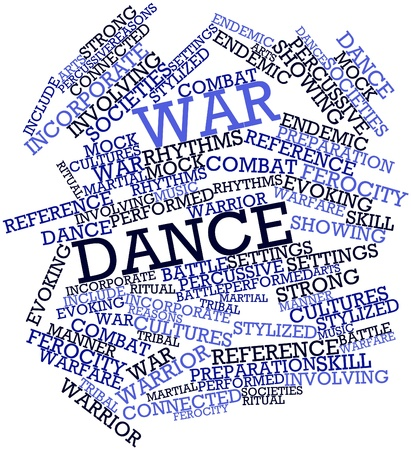 war abstract: Abstract word cloud for War dance with related tags and terms
