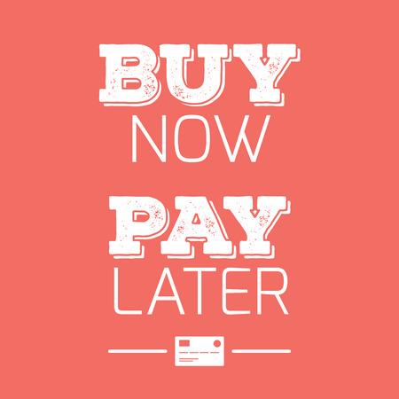 acheter maintenant payer plus tard les cartes de credit citations banque d images 59303737