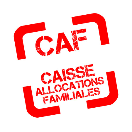 caisse dallocations familiales or caf is the family branch of french social security rubber stamp in