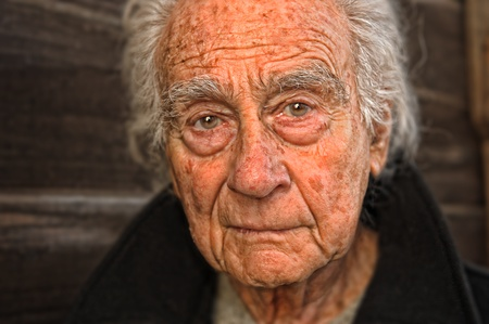 old man portrait: Very nice emotional portrait of a elderly man