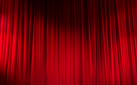 Red Closed Curtain With Light Spots In A Theater Stock Photo 40932105