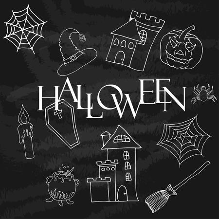 halloween label spider web