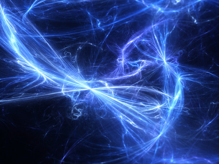 Glowing blue high energy field in space, computer generated abstract background Stock Photo - 38390346