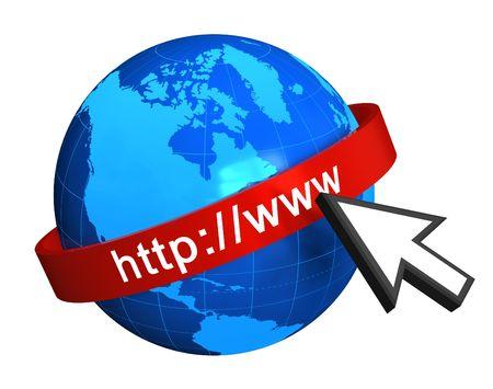 WWW ICON: Internet concept