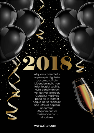 poster on new year 2018