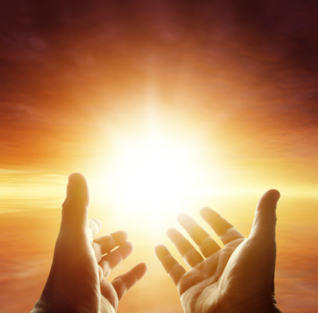 GOD: Hands reaching for the sky