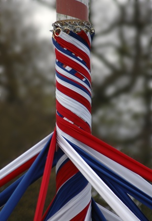 A maypole with ribbons Stock Photo - 19960439