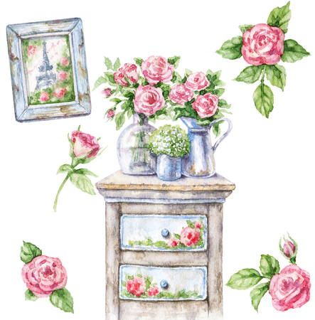 Combine ruffles and lace for a shabby chic look. 1 820 Shabby Chic Furniture Stock Photos And Images 123rf