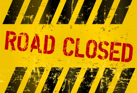 road closed, prohibition sign, vector Stock Vector - 18341294