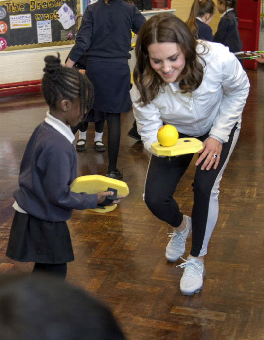 Kate Middleton reveals she is less sporty after having ...