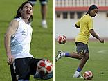 Compañeros del Barcelona/ AFP