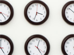 Changing the time on a clock.(Reuters)