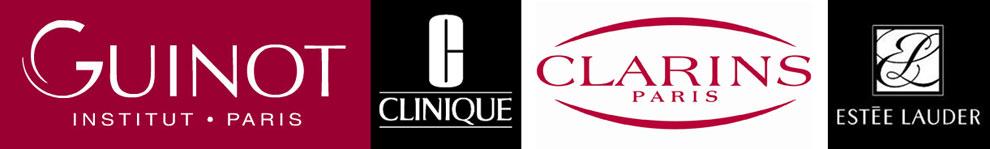 Logos Clarins - Clinique - Guinot - Estée Lauder