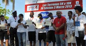 2013 winners Las Terrenas 5K - 10K