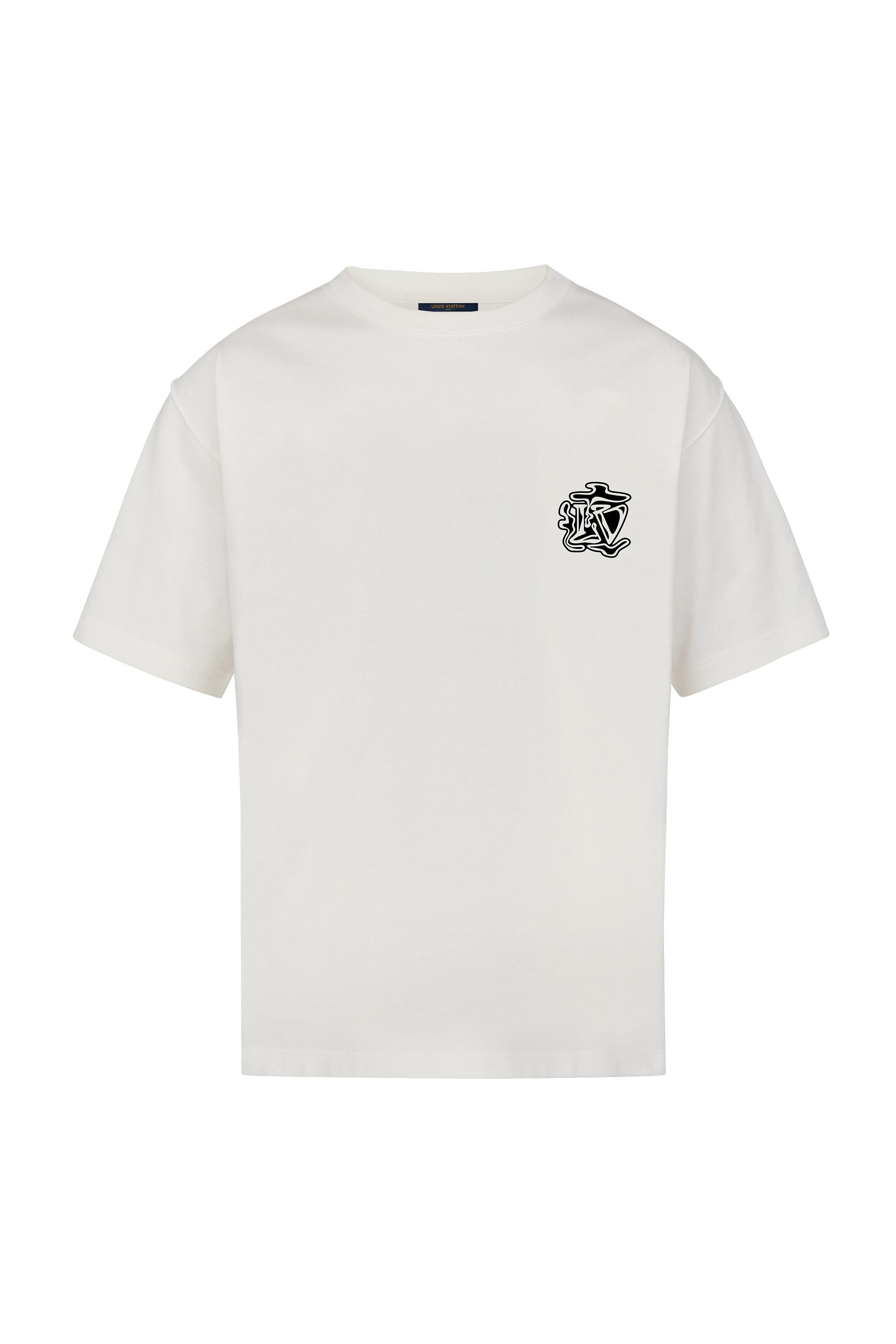 Lv Smoke Printed Tee In White
