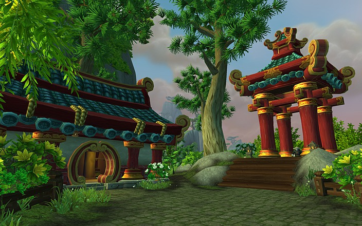 A screenshot of the Jade Forest zone in World of Warcraft: Mists of Pandaria