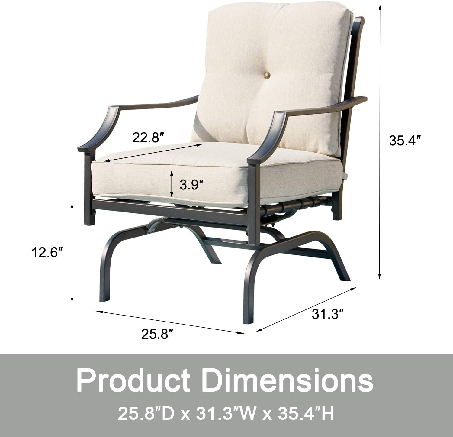 rocking patio chairs outdoor metal