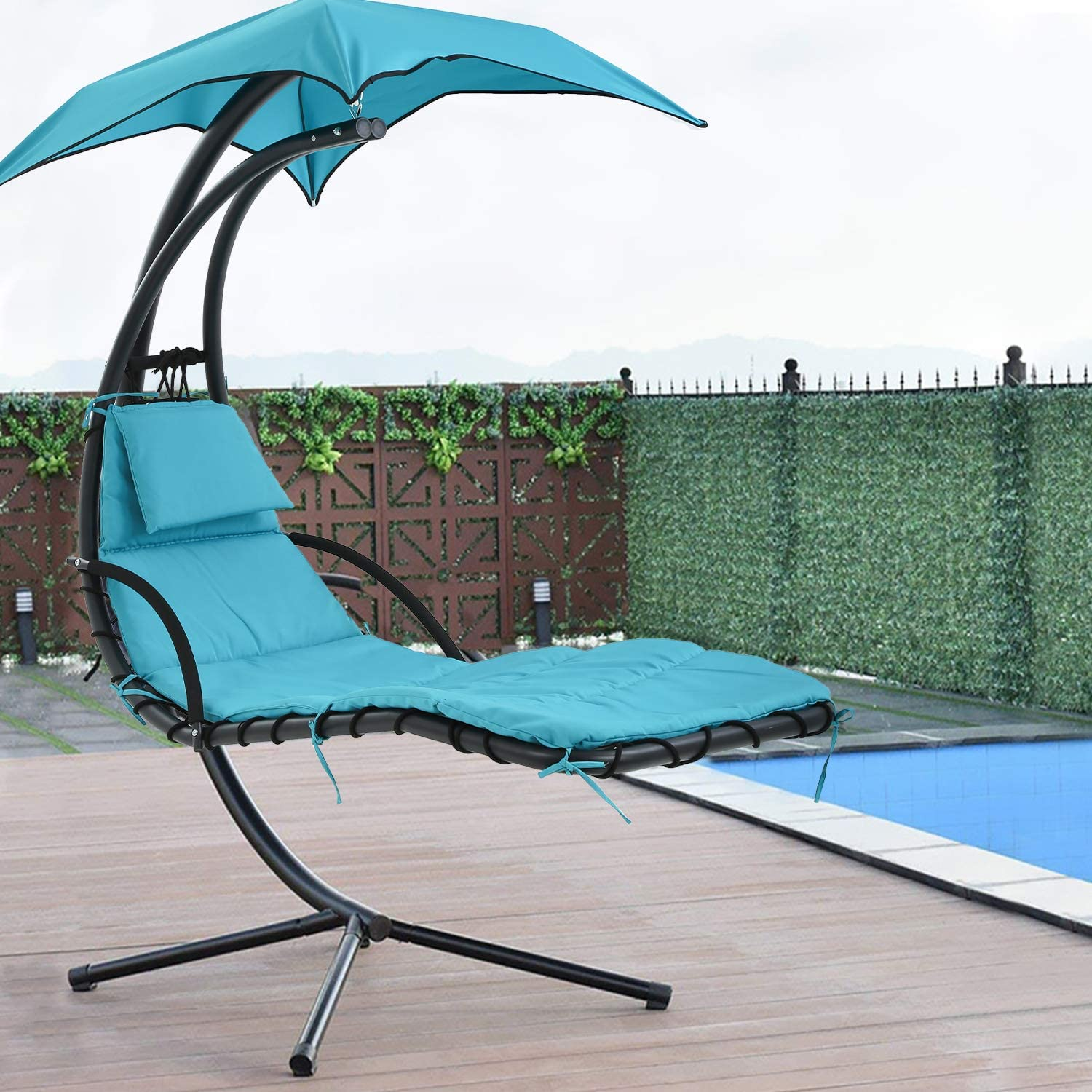 patio chair hammock stand outdoor chair swings for adults hanging chaise lounger chair floating chaise canopy swing arc stand air porch lounge chair