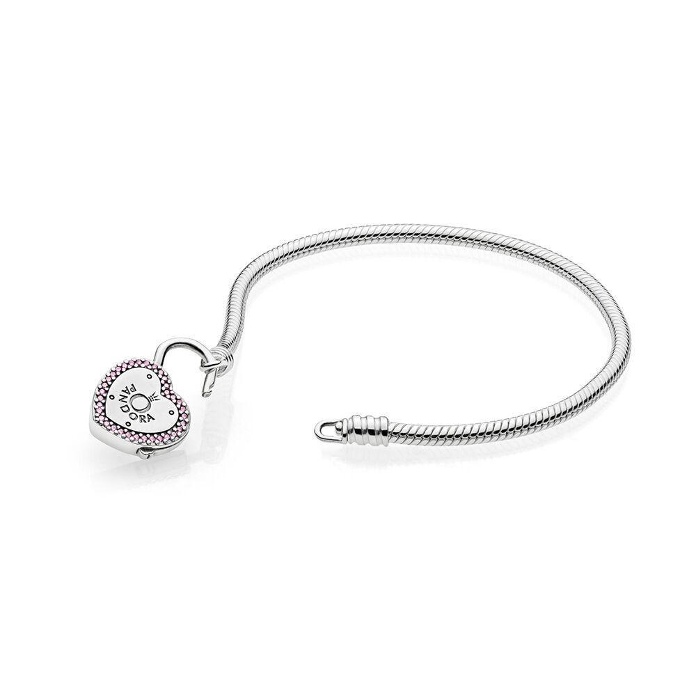 Lock Your Promise Bracelet Fancy Fuchsia Pink Amp Clear CZ