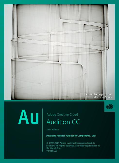 新版的 Adobe CC 2014 軟體的開啟畫面插畫 Adobe-Audition-CC-2014