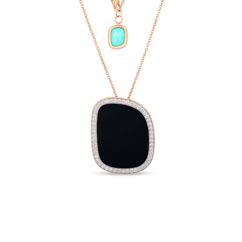 Roberto-Coin-Black-Jade-18K-Rose-Gold-Pendant-with-Black-Jade-and-Agate-and-and-Diamonds-888663AXCHJX