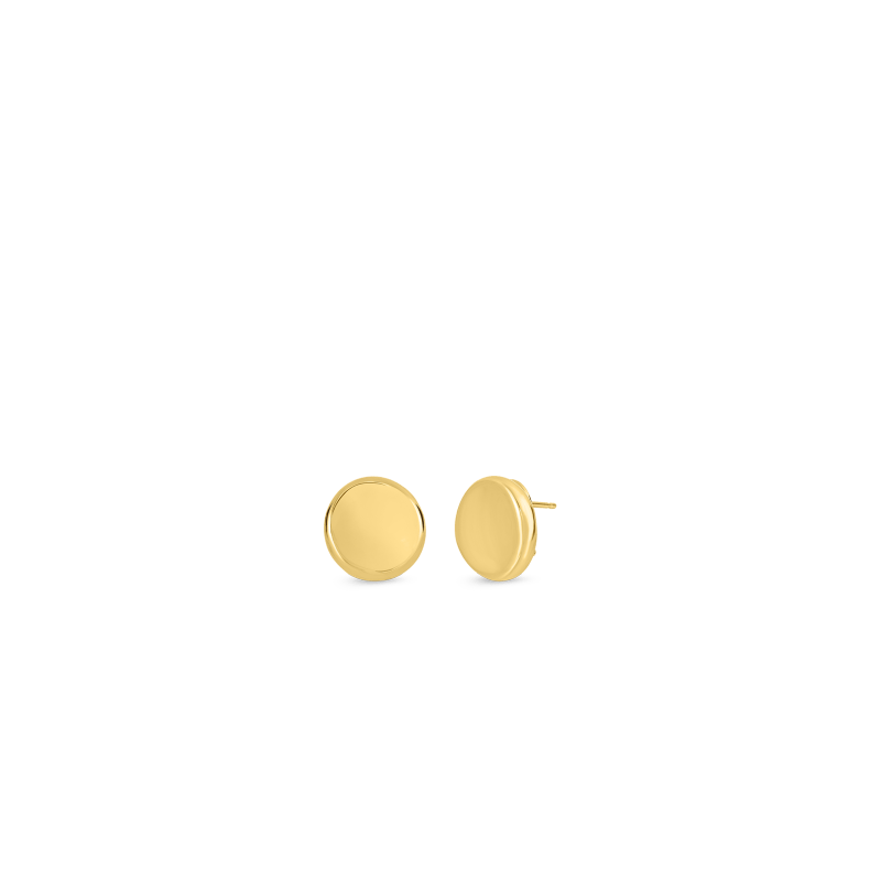 Roberto-Coin-Designer-Gold-18K-Yellow-Gold-Small-Button-Earrings-674536AYER00