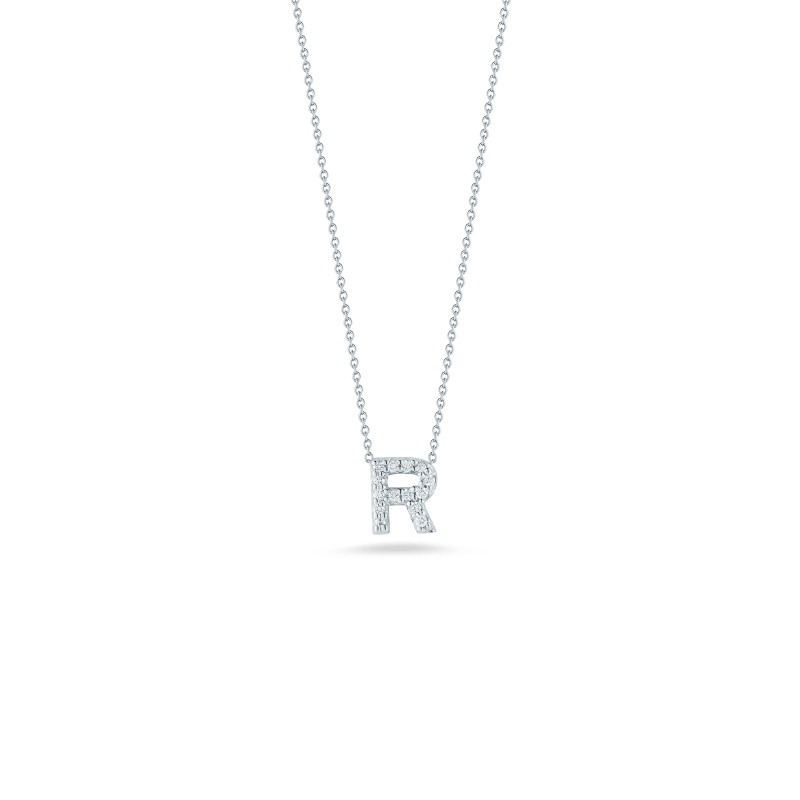 Roberto-Coin-Tiny-Treasures-18K-White-Gold-Love-Letter-R-Pendant-with-Diamonds-001634AWCHXR