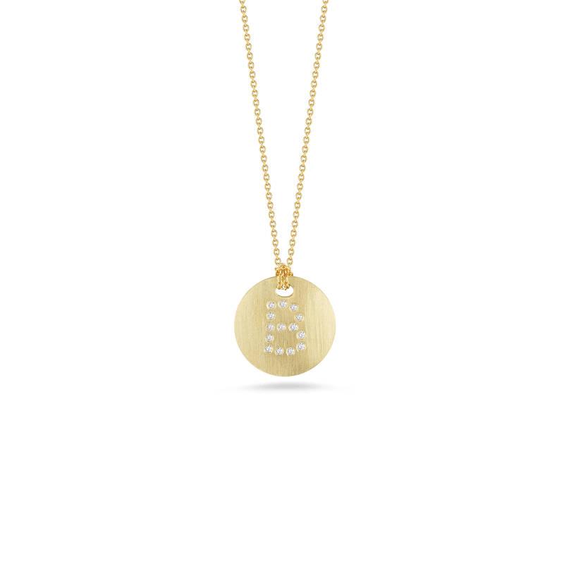 Roberto-Coin-Tiny-Treasures-18K-Yellow-Gold-Disc-Pendant-with-Diamond-Initial-B-000801AYCHXB