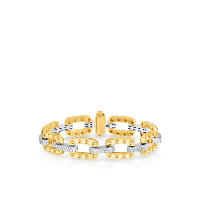 Roberto-Coin-Pois-Moi-18K-Yellow-Gold-and-18K-White-Gold-Link-Bracelet-with-Diamonds-777925AJLBX0