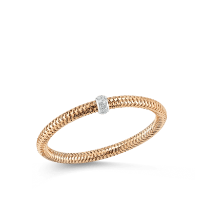 Flexible Bangle With Diamonds 18K Rose Gold