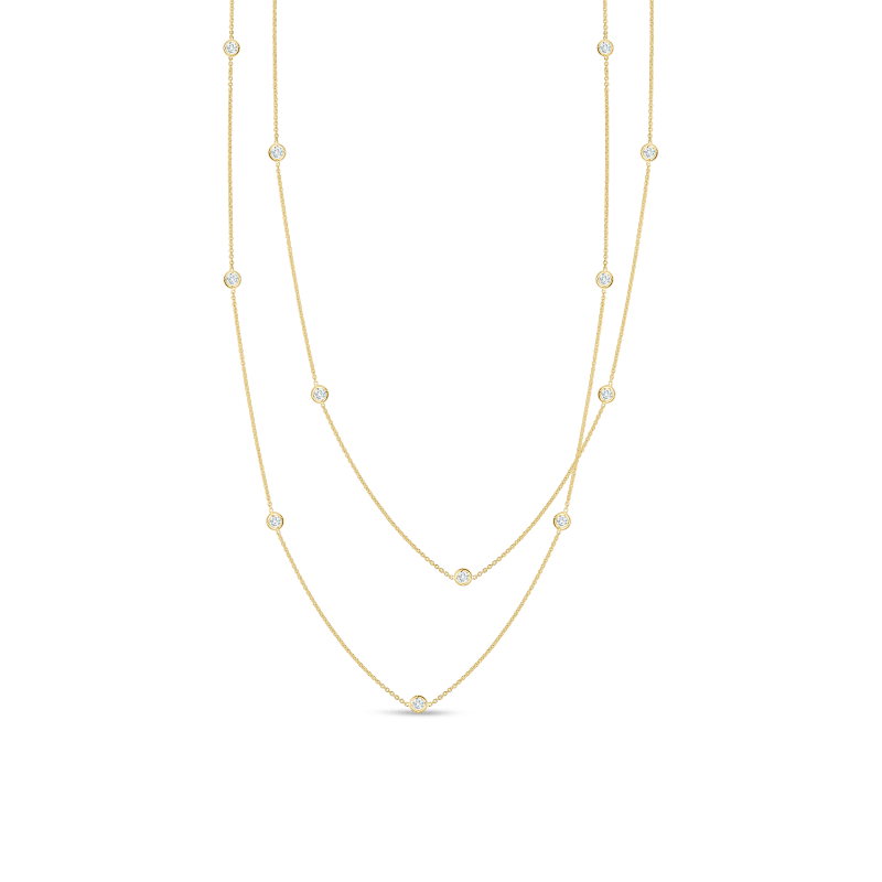 7d20c1f0ba8 Diamonds by the InchNecklace with 15 Diamond Stations