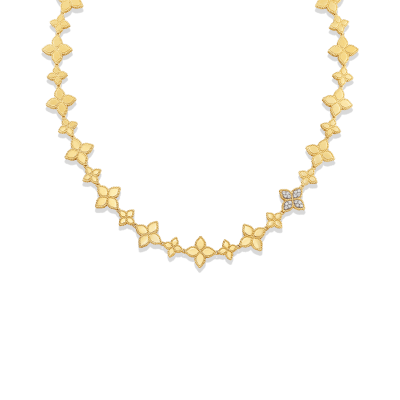 Link Collar with 1 Diamond Link