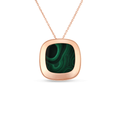 Large Pendant with Malachite