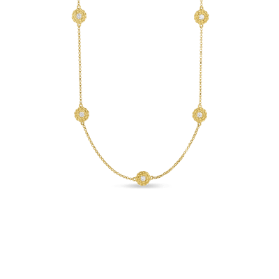 Necklace with Diamond Stations