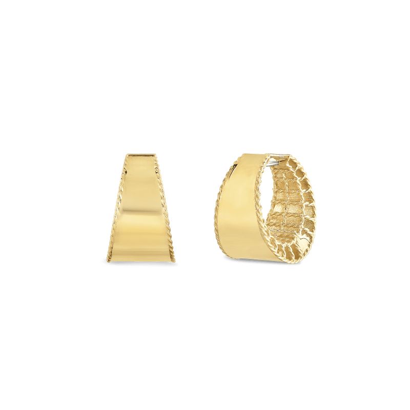 Roberto-Coin-18k-yellow-gold-Tapered-Hoops-7771421AYER0