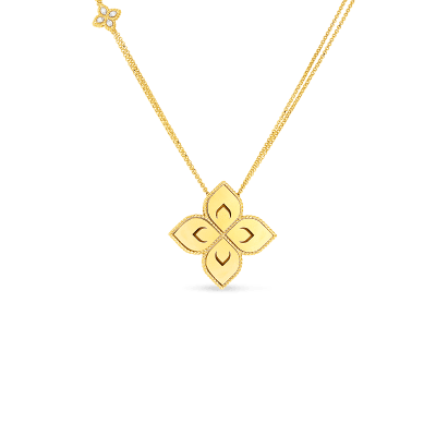 Product 18k medium flower pendant