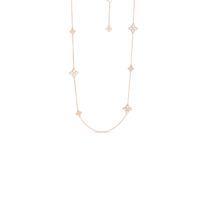 Product 18kt alternating medium & small mother-of-pearl & diamond necklace