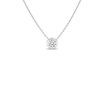 Product 18k Bezel Set Diamond Solitaire Necklace