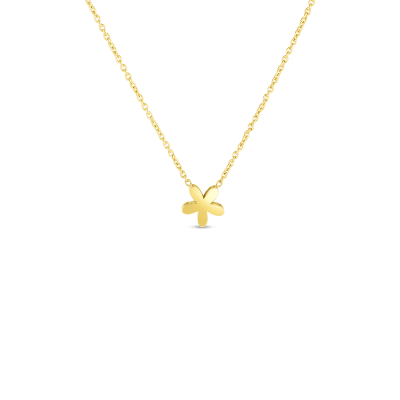 18KT GOLD Y FIORE PRINCESS NECKLACE