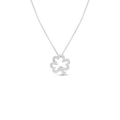 Product 18k Gold & Diamond Open Clover Necklace