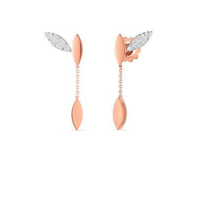 Product 18kt Gold Petal Earrings With Diamonds