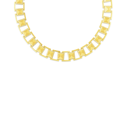 Product 18k Gold Diamond Frame Obelisco Link Collar