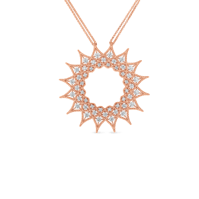 Product 18k Diamond Accent Medium Starburst Pendant
