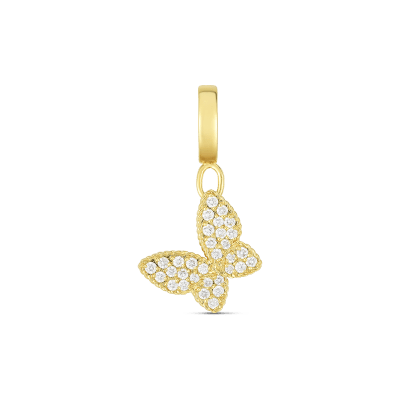 Product 18k Gold & Diamond Princess Butterfly Charm