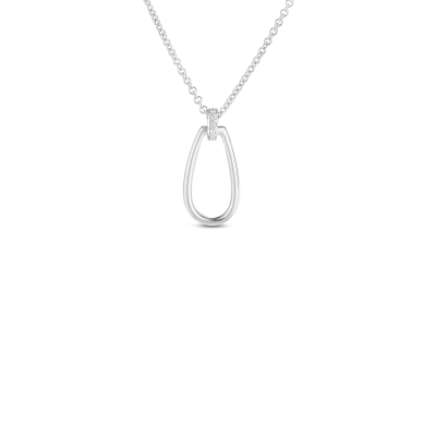 Product 18k small stirrup pendant with diamond bale
